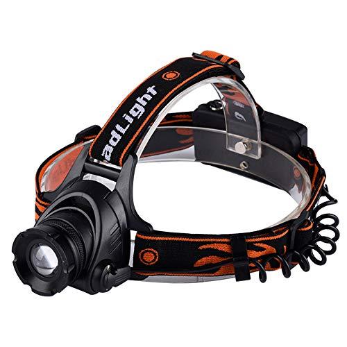 ZOUQILAI Taschenlampe LED Scheinwerfer 2000 Lumen XML T6 Scheinwerfer 3 Modi wasserdicht Zoomable Taschenlampe Wieder Aufladbar - Wieder Aufladbare Motorrad