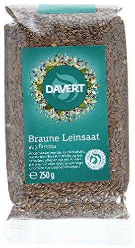 Davert Leinsamen, 8er Pack (8 x 250 g) - Bio -