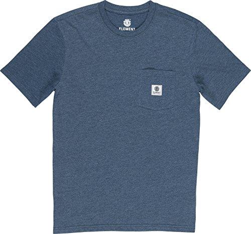 Basic Pocket Label T-Shirt - Indigo Heat Größe: L Farbe: Indigo Heather
