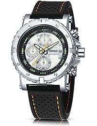 282c44b741e4 Time100 reloj pulsera para hombre de la correa de silicona color negro reloj  ocio de moda