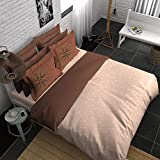 Boutique Living Young @ Heart Me Geos Smooth & Silky Double Bedsheet Cream & Brown
