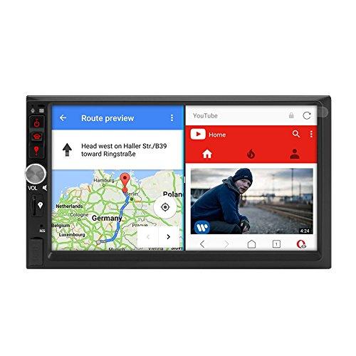 A-Sure 7 Zoll Android 7.1 2GB RAM Autoradio 2 Din Navigation GPS Unterstützt DAB+ DVR OBD DVB Box 4G Bluetooth Wifi 178mm X 102mm Auto Navi USB MicroSD schwarz Universal KJ703J 2-Jahre-Garantie