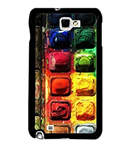 PrintVisa Colorful Chocolate Background High Gloss Designer Back Case Cover for Samsung Galaxy Note N7000 :: Samsung Galaxy Note I9220 :: Samsung Galaxy Note 1 :: Samsung Galaxy Note GT-N7000