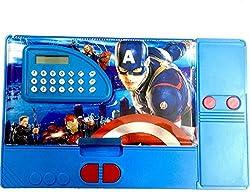 Jumbo Pencil Box with Calculator (Free USB LED Light) (Avengers)