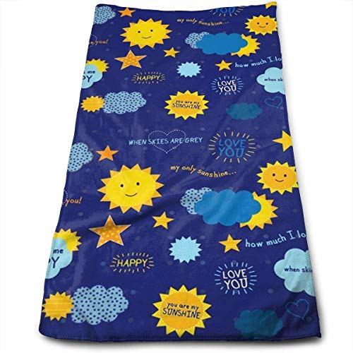 You Are My Sunshine Happy Multi-Purpose Microfiber Towel Ultra Compact Super Absorbent and Fast Drying Sports Towel Travel Towel Beach Towel Perfect for Camping, Gym, Swimming. - Body Delta-shower