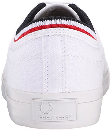 Fred Perry - Kendrick Tipped Cuff, - Uomo White Navy