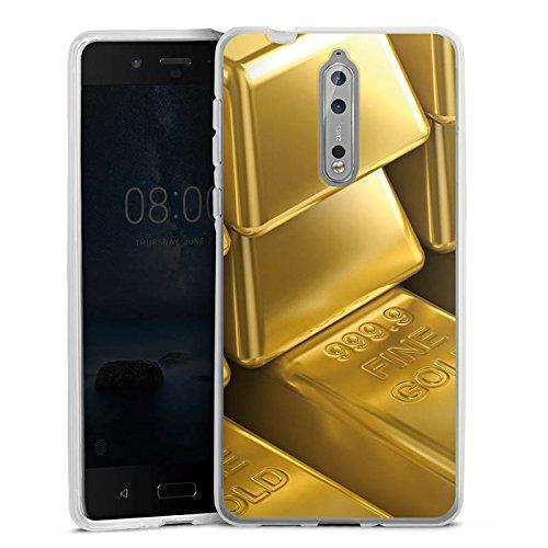 DeinDesign Nokia 8 Silikon Hülle Case Schutzhülle Goldbarren Gold Barren