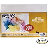 Brustro Artists' Watercolour Paper 200 GSM A3 - 25% cotton CP 2 Packets (Each Packet Contains 5+1 free sheets)