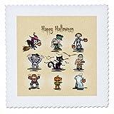 3dRose QS 129771_ 9Happy Halloween gruselige Monster