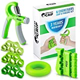 Hand Grip Strengthener Forearm Grip Workout Kit -...