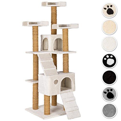 TecTake Tiragraffi per gatto gatti gioco 169cm - disponibile in diversi colori - (bianco | No. 402194)