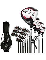 PGM Victor juegos completos de palos de golf clubes de Golf paquete, para diestros, grafito # mtg007