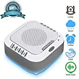White Noise Machine for Sleeping, Sound Machine with Night Light Portable Natural Sleep Sound Therapy Sound Machine Travel Sleep Auto-Off Timer