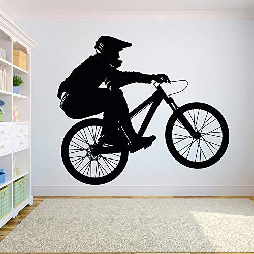 WSYYW Fahrrad Motorrad Kind Junge Teenager Raumdekoration Diy Wandtattoo Fahrrad Sport Vinyl Aufkleber Schlafzimmer Sport Wandmalerei Wandaufkleber Familie Garten Zustand Grau 26 48x42 cm