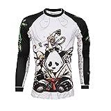 Tatami Rashguard Gentle Panda - Funktionsshirt, BJJ MMA Kompression Grappling Shirt (XL)