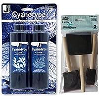 Jacquard Cyanotype Sensitizer Kit con spazzola in schiuma Royal & Langnickel, confezione da 3