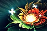 Kit de pintura de diamantes 5D, 5D diamond painting bordado de flores de fantasía de cristal,cuadros punto de cruz kit para manualidades, decoración de pared, 40 x 30 cm