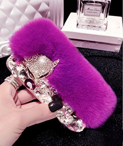 iPhone SE Hülle, iPhone 5s Hülle, iPhone 5 Hülle, Vandot 3D Diamant Schutzhülle iPhone SE 5S 5 Case Cover Bogen Rhinestone Bling Kristall Shining Handmade Handgefertigt Handyhülle Transparent TPU Sili Deep Purple