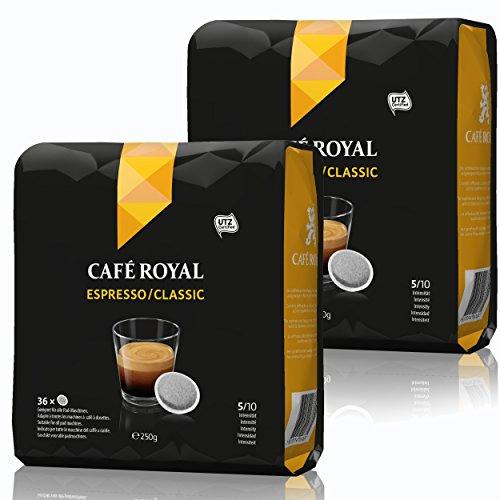 Café Royal Pads Espresso Classic Kaffee, Röstkaffee, Kaffeepads, für alle Pad-Maschinen, 72 Pads
