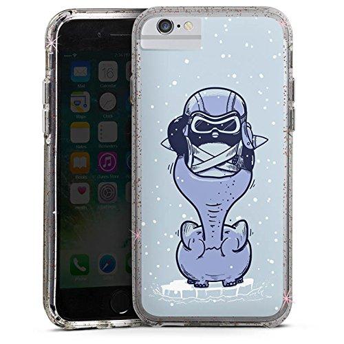 Apple iPhone 8 Bumper Hülle Bumper Case Glitzer Hülle Pinguin Elefant Zeichnung Bumper Case Glitzer rose gold