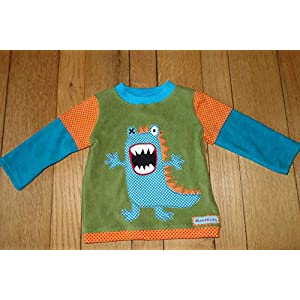 cooles Monster Baumwollfleece Shirt Gr. 92