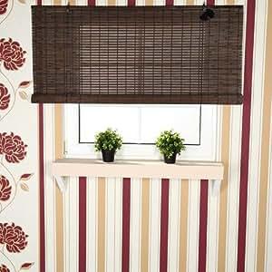 140x160 bambus raffrollo bambusrollo jalousie faltrollo holzrollo braun k che haushalt. Black Bedroom Furniture Sets. Home Design Ideas