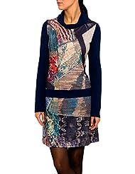 SMASH Andromeda Vestido Con Cuello Alto-A1682323, Robe de Chambre Femme