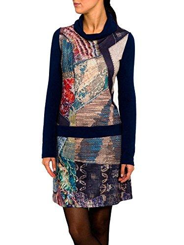 Smash Andromeda Vestido con Cuello Alto-A1682323, Vestaglia Donna, Blu Marino, XXL