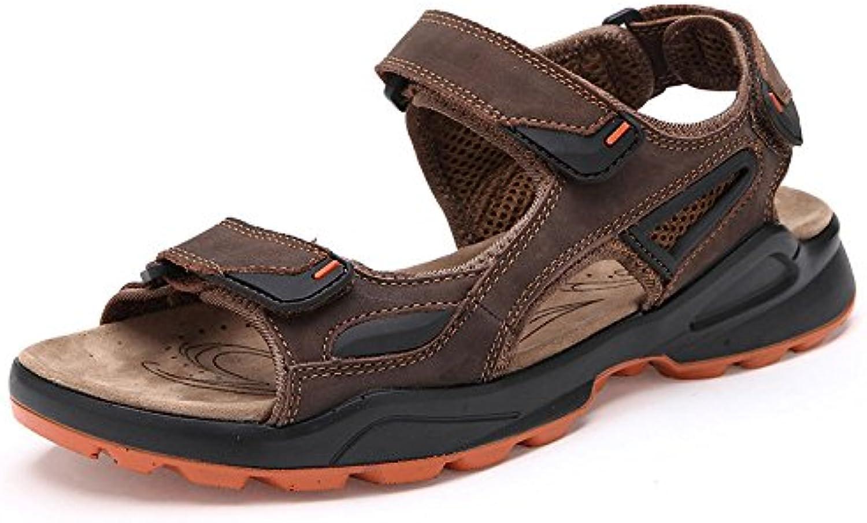 LEDLFIE Sandelholze Strand Schuh Art  und Weiseausschnitte Männer Im Freien DarkBrown 39LEDLFIE Sandelholze Strand Schuh Art Weiseausschnitte Männer Freien DarkBrown 39 Billig und erschwinglich Im Verkauf