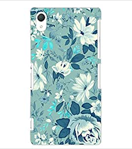 ColourCraft Lovely Flower Pattern Design Back Case Cover for SONY XPERIA Z2