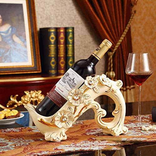 Vintage Vino Rack Hotel Soggiorno Ristorante Bar Armadietto del Vino Cafe Decorazione Ceramica Artigianato Regalo di Nozze 31 * 13 * 17,5 Centimetri,White-31 * 13 * 17.5cm