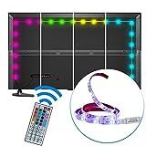 ABelle LED Lichtband USB 3.28ft Wasserdicht LED Stripes TV Monitor Hintergrund Beleuchtung 5050 SMD LED Lichtleiste mit 44 Tasten IR Fernbedienung [Energieklasse A+]