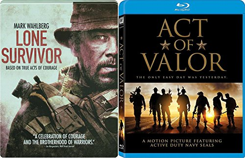of Valor 2 Blu-Ray Bundle & Lone Survivor Seals Steelbook Double Feature Movie Bundle ()
