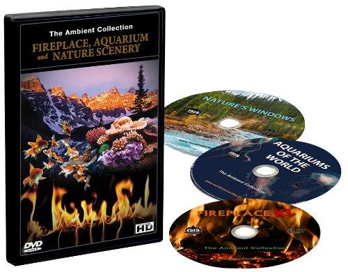 3 DVD Set - Kaminfeuer und Aquarien und Naturlandschaften