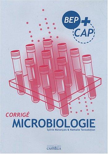 Microbiologie BEP+CAP : Corrigé