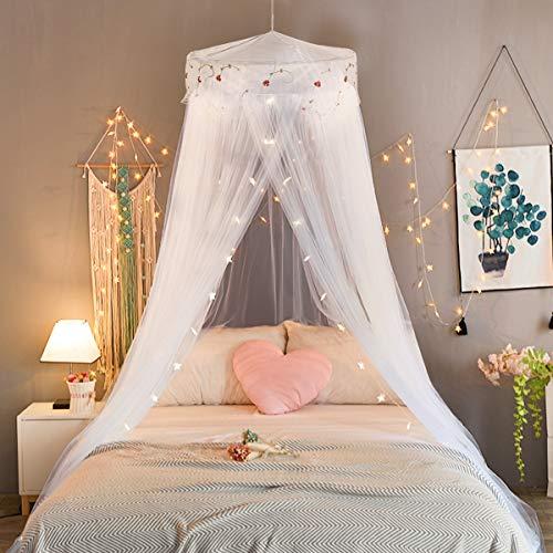 Princesa Mosquitera Jeteven Dosel para Cama para Niños Fly Protección Contra Insectos Interior / Exterior Decorativa Altura 240cm