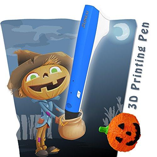 SUNLU 3D Pen, la más nueva versión M1 | para adultos, adolescentes y niños | Impresora 3D y lápiz de dibujo | USB Power Bank | Compatible con PLA y PCL | Recargas de filamentos de 2 piezas | Elegante azul caliente