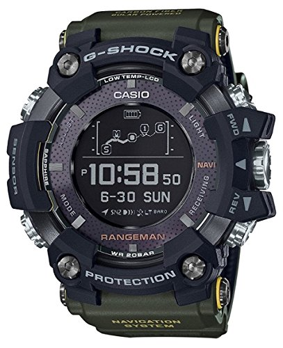 Casio G-Shock Rangeman Green Limited Edition GPR-B1000-1B Watch GPS Navigation Solar Triple Sensor GPRB1000-1B