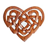 Wandschmuck Wandbild Holzbild BRANWEN Keltisches Herz aus Holz