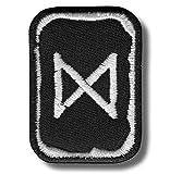 Dagaz Rune–hierro/sew on Patch, 4x 5cm