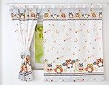 BABYLUX Kinderzimmer VORHANGE mit Schlaufen Kinder und Baby Gardinen 160x120 cm(57. Eule Grau)