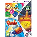 Coffret 3 jeux PC Casual Fever :  Puzzle (Zuma + Peggle + Bookworm adventure)