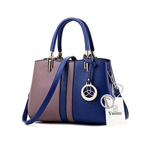 Yoome Contrast Colore Borse a tracolla in grande capacità borsa da tracolla New Chic Bags For Women - P.Grey B.Brown