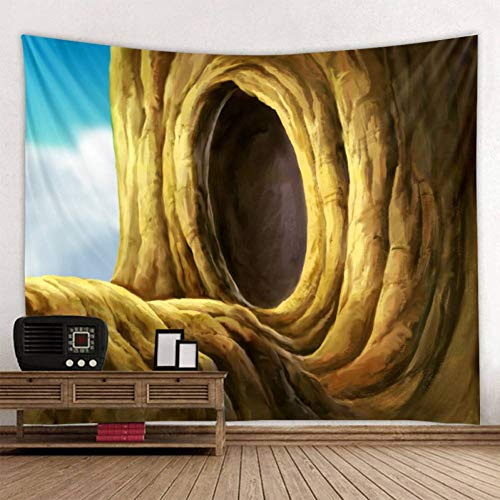 ZWBBO Tapisserie Qualität Baum Loch Mandala Wandteppich böhmischen Yoga-Matte Sandstrand werfen Teppich große Decke (130X150cm)