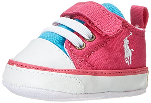 Polo Ralph Lauren Carson Ez layette, Baby Mädchen Krabbelschuhe, Pink (Rose/Light Rose/light blue), 19 EU (Polo Ralph Lauren Sneakers Mädchen)