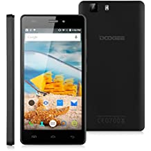 "Doogee X5 Pro - Smartphone Libre 4G Android 5.1 (Quad Core, 5.0"" IPS 1280*720 HD, 2GB RAM, 16GB ROM, 5.0MP Cámara, Dual SIM, GPS, OTG) Celular (Negro)"