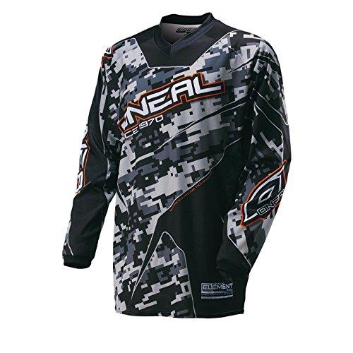 O'Neal Element Kinder MX Jersey DIGI CAMO Schwarz Motocross Enduro Offroad, 0025D-20, Größe S