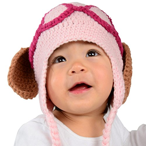 Große Welpen Hat–Pink Puppy Hund Hat mit Schlappohren
