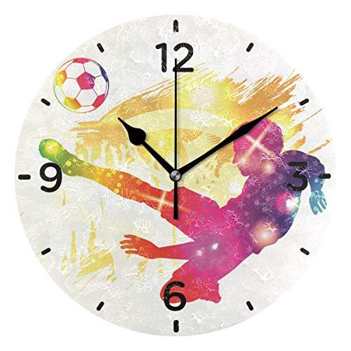 Fußballwanduhr Fußball-Wanduhr mit