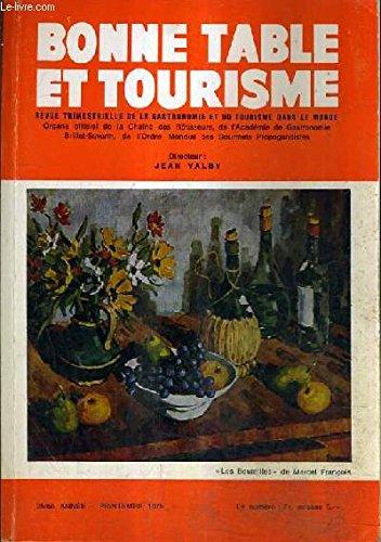BONNE TABLE ET TOURISME - 25E ANNEE PRINTEMPS 1975 - La presse gastronomique en deuil - la cuisine en bourbonnais - la chaîne des rotisseurs aux USA a Lyon dans les vosges - nouvelles di baillage de suisse - assemblée générale mondiale etc.
